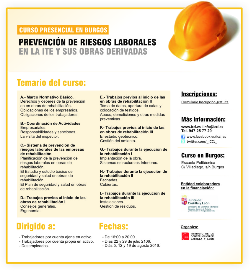 Curso presencial sobre prevenci n de riesgos laborales en for Prevencion de riesgos laborales en la oficina